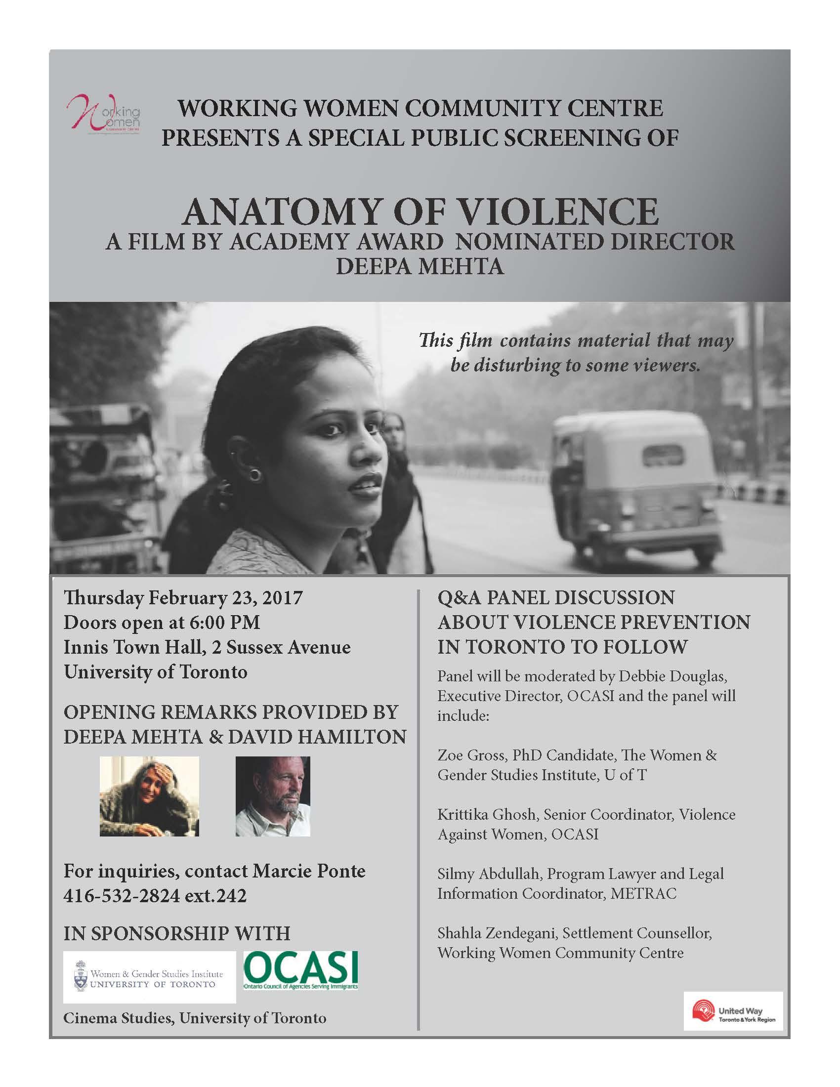 Screening of Anatomy of Violence by Deepa Mehta - Women & Gender ...